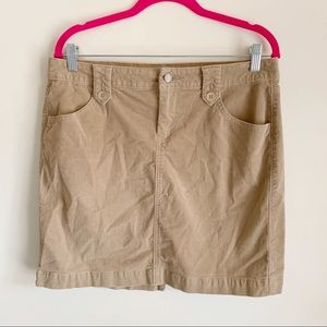 Old Navy Tan Corduroy Mini Skirt 10
